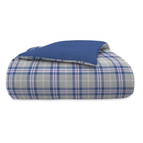 IZOD Bryon Plaid Reversible Comforter Set with Shams
