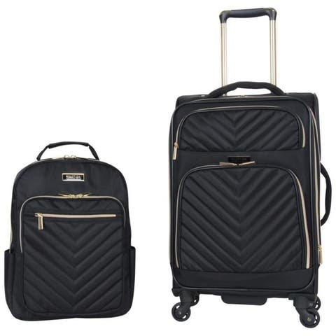 "Kenneth Cole Reaction Chelsea 2-Piece Set (20"" Expandable 8-Wheel Carry-On & Chevron 15"" Laptop Backpack) - Black or Navy"