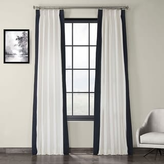 Link to Porch & Den Kian Colorblock Cotton Vertical Pleated Curtain Similar Items in As Is
