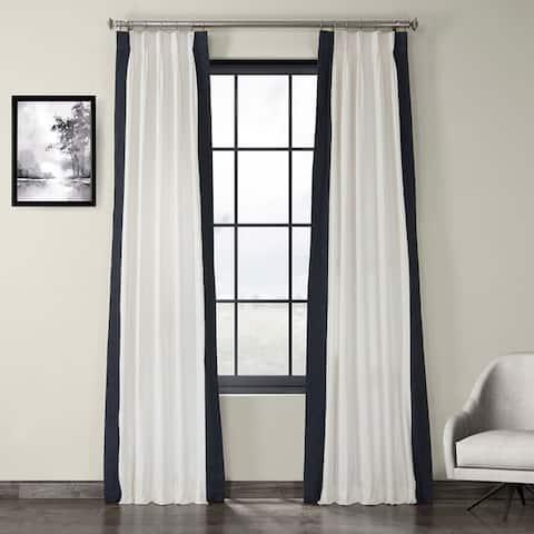 Porch & Den Kian Colorblock Cotton Vertical Pleated Curtain