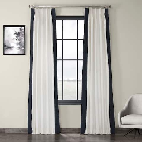 Exclusive Fabrics Pleated Vertical Colorblock Curtain