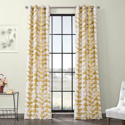 Exclusive Fabrics Triad Grommet Printed Cotton Twill Curtain
