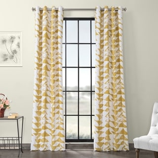 Exclusive Fabrics Triad Grommet Printed Cotton Twill Curtain