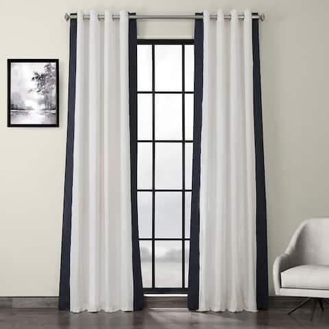 Exclusive Fabrics Grommet Vertical Colorblock Curtain