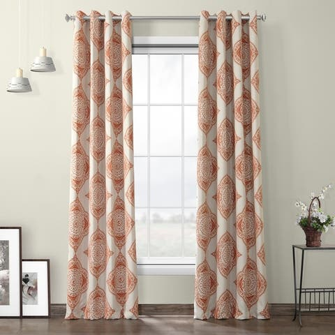 The Curated Nomad Henna Grommet Blackout Curtain Panel Pair