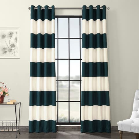 Porch & Den Kimber Horizontal Stripe Cotton Curtain