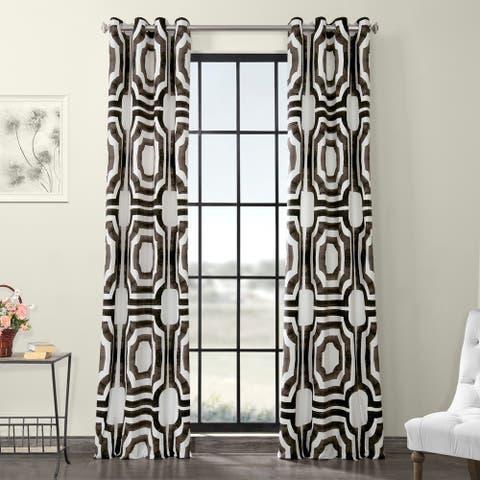 Carson Carrington Juby Grommet Printed Cotton Curtain