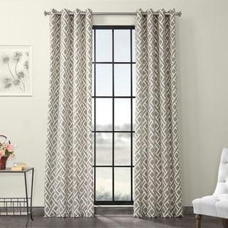 Exclusive Fabrics Martinique Grommet Printed Cotton Curtain