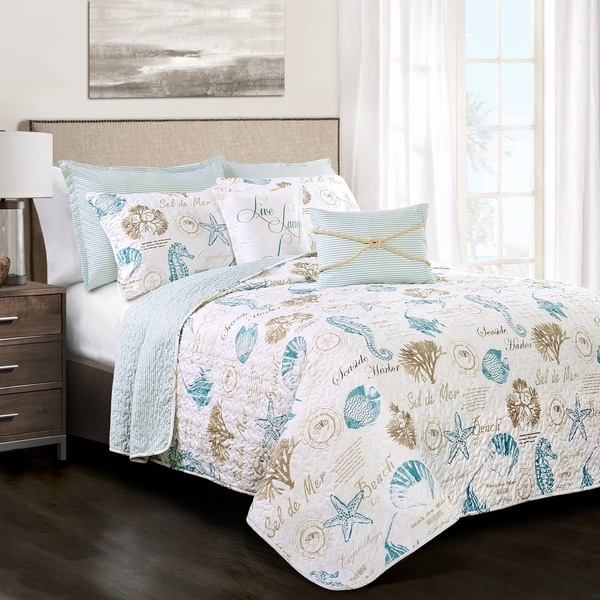 Lush Decor Harbor Life 7 Piece Quilt Set Full - Queen Size (As Is Item). Opens flyout.