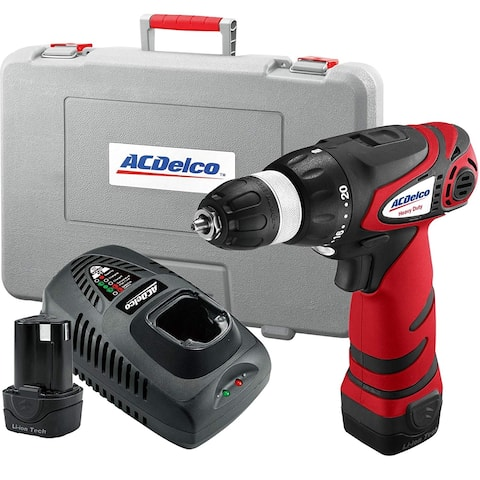 ACDelco ARD1296 12-Volt 3/8-inch 2-speed Drill, 300 in-lbs, 345/1240 RPM, 2 Battery included