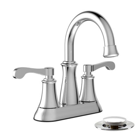 Belanger RUS74WCP Two Handle Bathroom Faucet in Polished Chrome