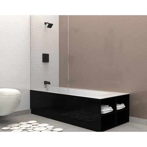 Belanger QUA90CMB Single Handle Tub and Shower Faucet in Matte Black