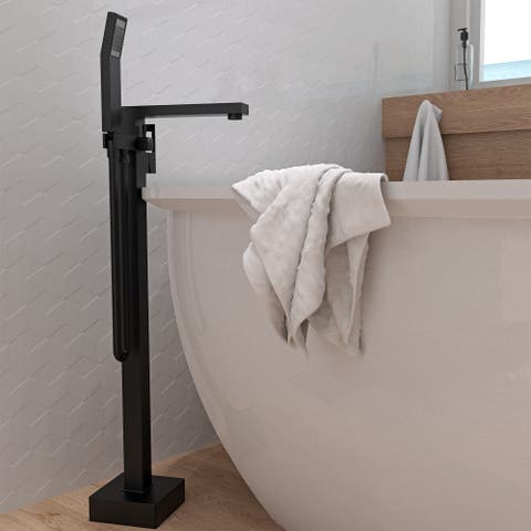 Belanger QUA45CMB Freestanding Tub Filler in Matte Black