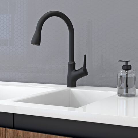 Belanger FUS78CMB Single Handle Kitchen Faucet in Matte Black