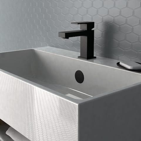 Belanger QUA21CMB Single Handle Bathroom Faucet in Matte Black