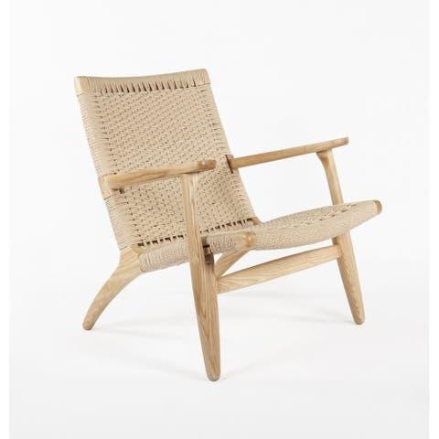 Wegner Woven Lounge Chair