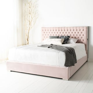 Safavieh Couture Chester Tufted Velvet King Bed