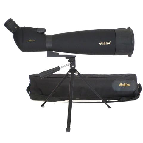 Galileo 30X - 90X x 90mm Zoom Spottig Scope with Smartphone Adapter & Shoulder Case