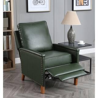 Prescott Recliner Chair with Nailhead Trim in Forest