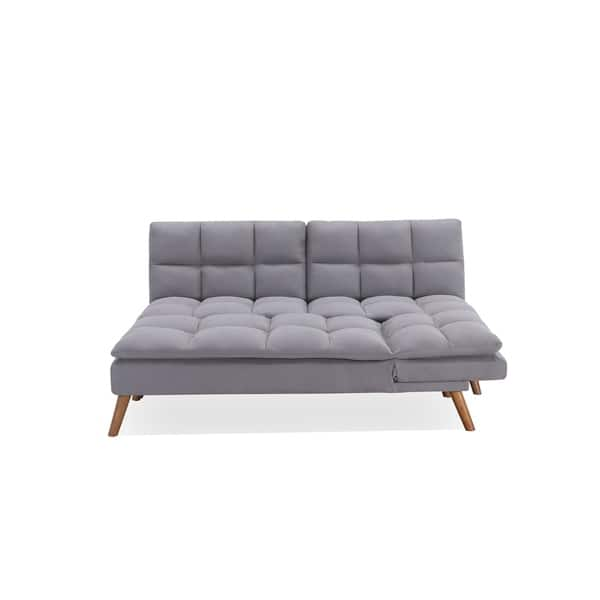 Shop Dover Convertible Sofa Bed Sectional in Fog - Free ...