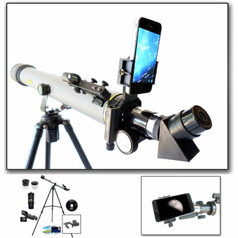 800mm x 60mm Day/Nite Refractor telescope with Smartphone Adapter