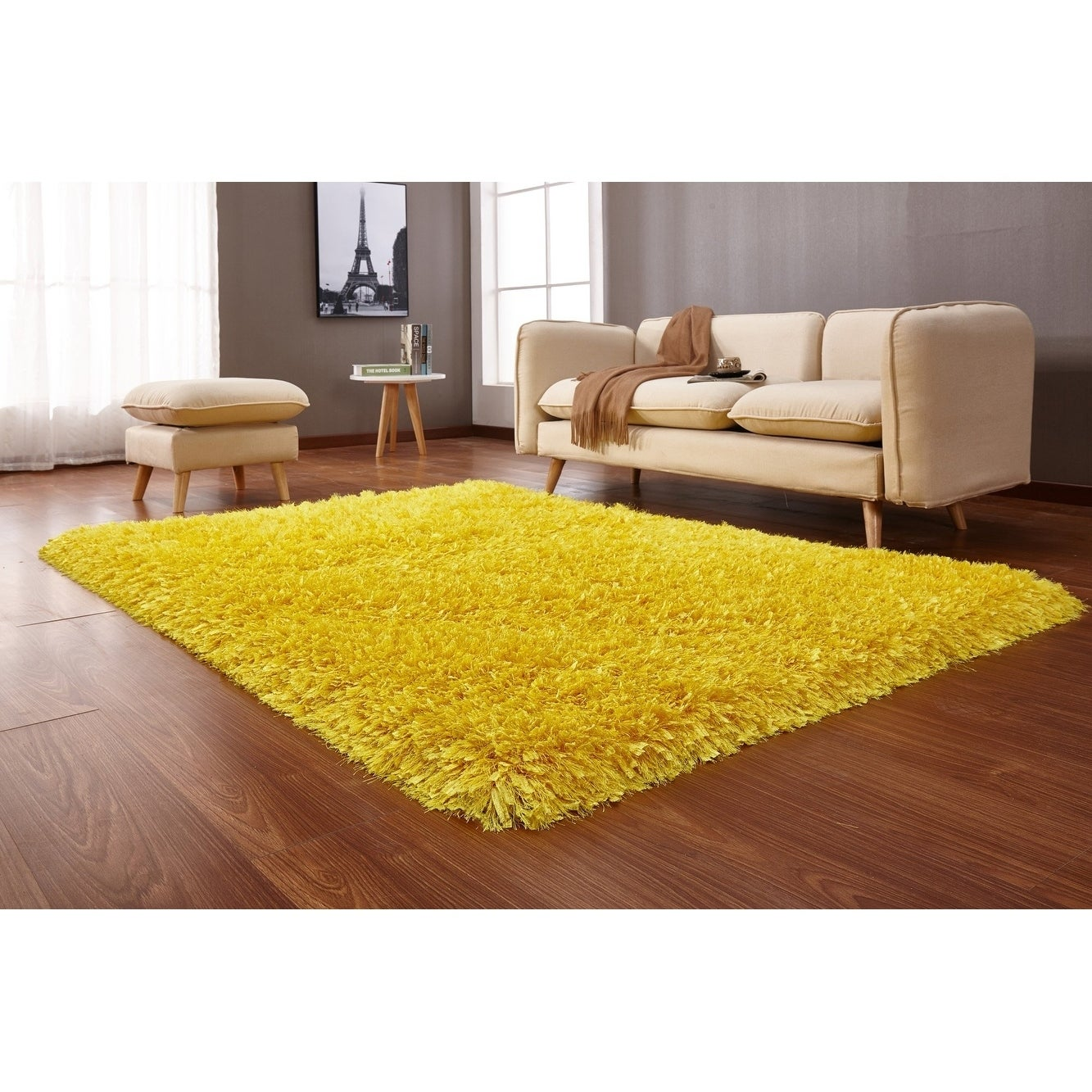 Yellow Area Rug 5x7 - Big