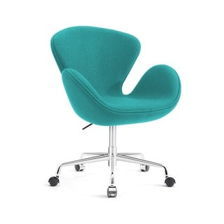 Swan Chair Swivel Height Adjustable Lounge Chair,  Cashmere