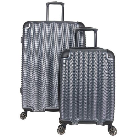 Kenneth Cole Reaction Wave Rush 2-Piece 20in/28in Lightweight Hardside PET Expandable 8-Wheel Spinner Luggage Set