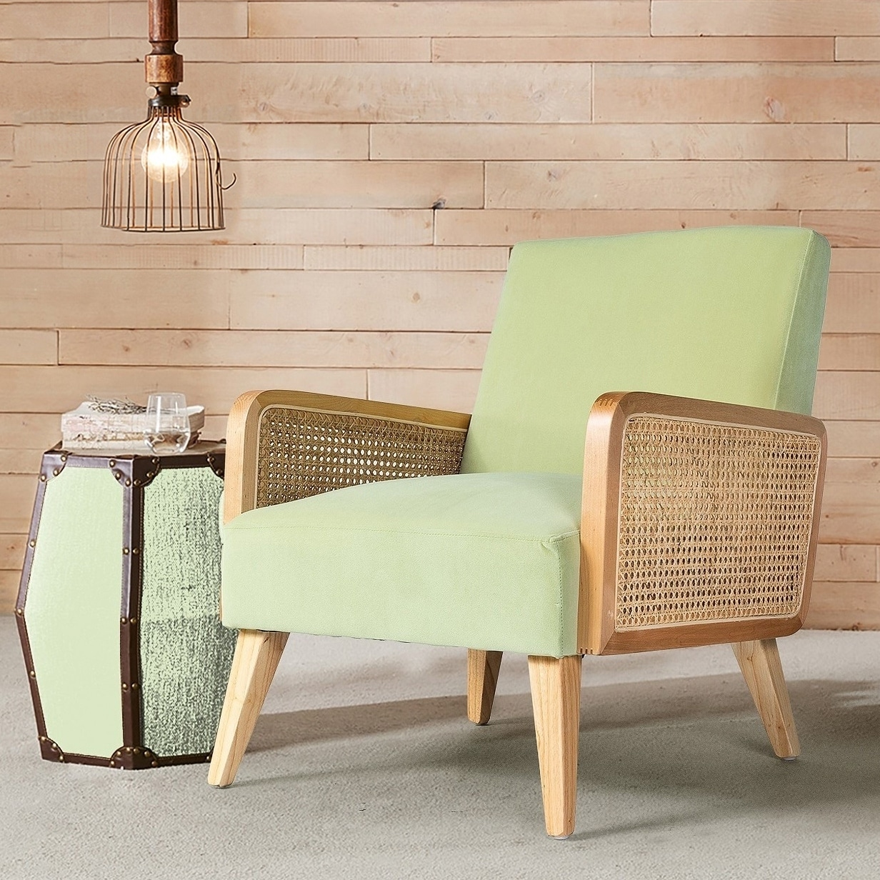 Shop Delphine Cane Accent Chair On Sale Free Shipping Today