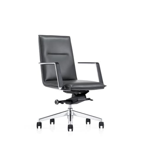 Executive Adjustable Ergonomic Conference Office Chair,Bonded Leather