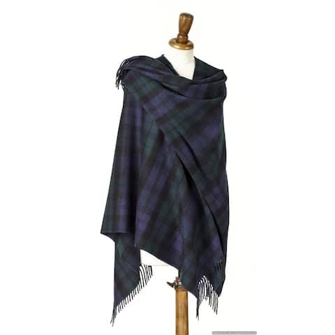 "Bronte Moon - Wrap Clan Campbell Tartan - Black Watch Tartan Plaid - 55"" x 53"" - 55"" x 53"""