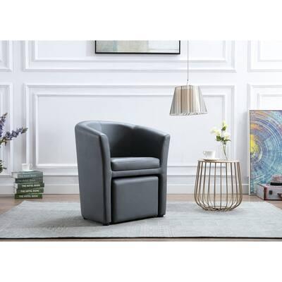 Carson Carrington Junkboda Accent Club Chair With Foot Stool