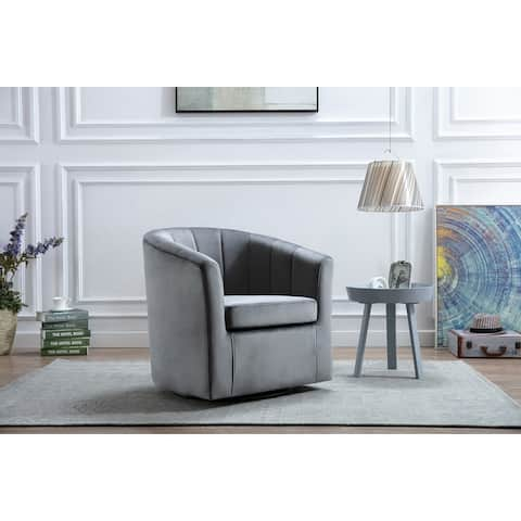 Porthos Home Dani Accent Club Chair With Luxurious Velvet Upholstery