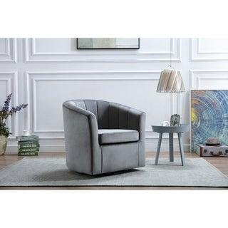 Carson Carrington Junsele Velvet Upholstery Accent Club Chair