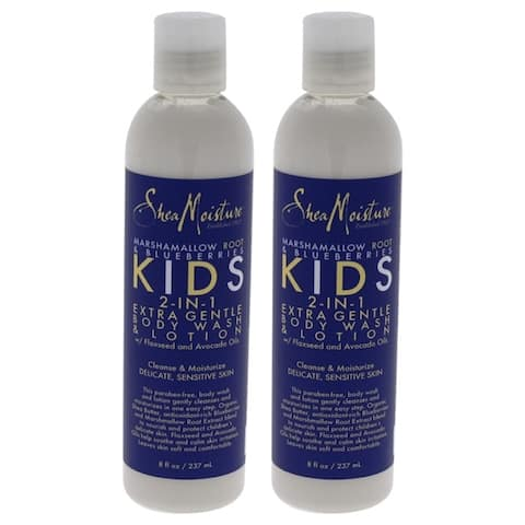 Marshmallow Root & Blueberries Kids 2-In-1 Extra Gentle Body Wash & Lotion by Shea Moisture for Unis