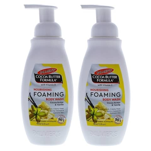 Cocoa Butter Nourishing Foaming Body Wash by Palmers for Unisex - 13.5 oz Body Wash - Pack of 2