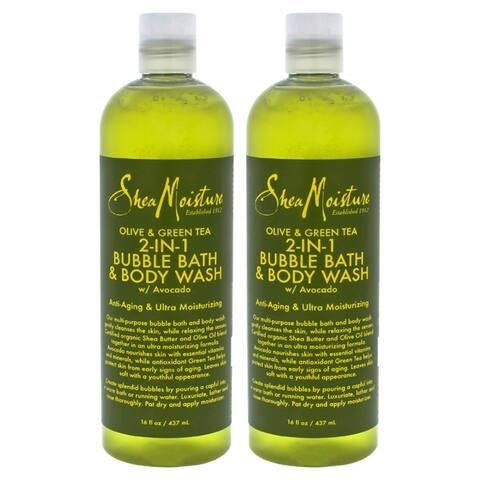 Olive & Green Tea 2-In-1 Bubble Bath Body Wash Anti-Aging & Ultra-Moisturzing by Shea Moisture for U