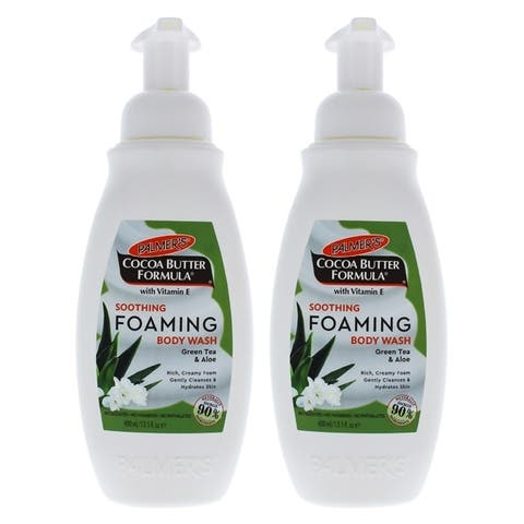 Cocoa Butter Soothing Foaming Body Wash by Palmers for Unisex - 13.5 oz Body Wash - Pack of 2