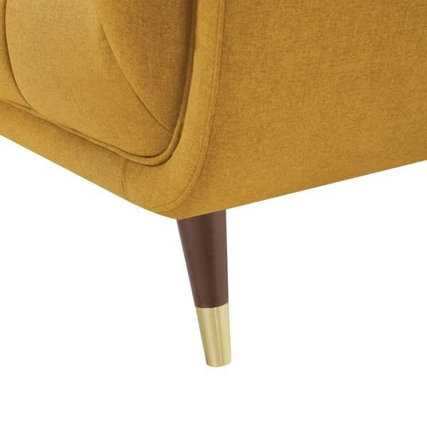 Sensational Shop Art Leon Modern Tufted Fabric Soft Sofa With Wood Legs Ibusinesslaw Wood Chair Design Ideas Ibusinesslaworg
