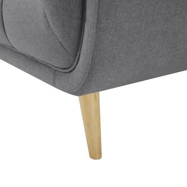 Phenomenal Shop Art Leon Modern Tufted Fabric Soft Sofa With Wood Legs Frankydiablos Diy Chair Ideas Frankydiabloscom