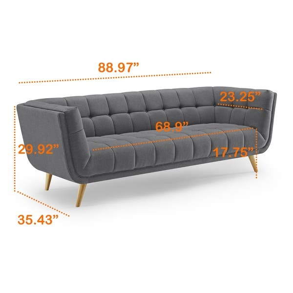Astounding Shop Art Leon Modern Tufted Fabric Soft Sofa With Wood Legs Frankydiablos Diy Chair Ideas Frankydiabloscom