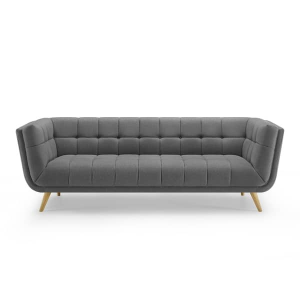 Pleasing Shop Art Leon Modern Tufted Fabric Soft Sofa With Wood Legs Frankydiablos Diy Chair Ideas Frankydiabloscom