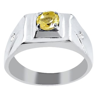 925 Sterling Silver Cubic Zirconia Men S Ring By Essence Jewelry