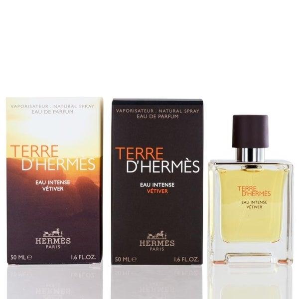 Terre D'Hermes Eau Intense Vetiver for Men by Hermes Eau De Parfum Spray 1.6 Oz