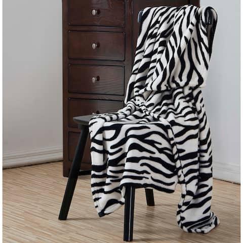 Veratex Zebra 50 x 60 Plush Throw