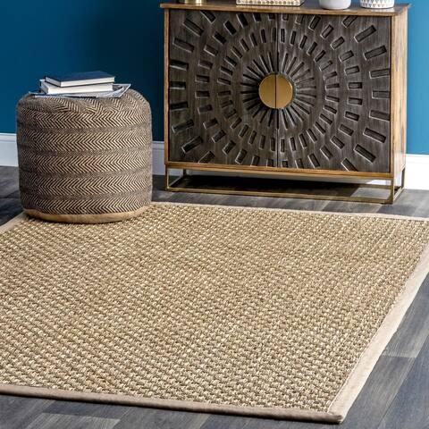 nuLOOM Natural Fiber Seagrass Basketweave Area Rug