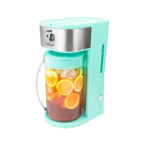 Brentwood KT-2150BL Iced Tea and Coffee Maker with 64oz Pitcher, Blue