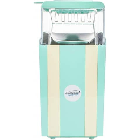 Brentwood PC-488BL Classic Striped 8-Cup Hot Air Popcorn Maker