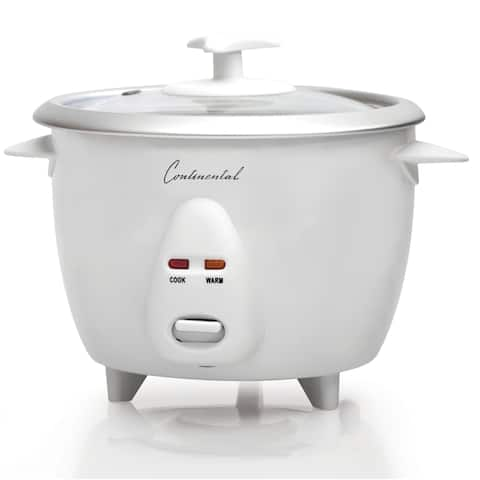 Rice Cooker 20-Cup Cooked Glass Lid White