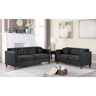Link to Lory velvet Kitts Classic Chesterfield Living room seat-Loveseat and Sofa Similar Items in Living Room Furniture
